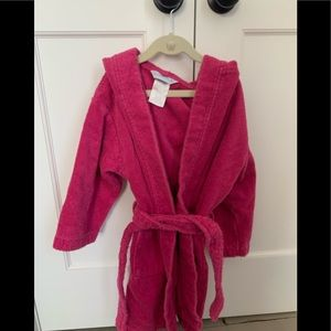 Girls cotton hooded robe / 3 for $30 Sale